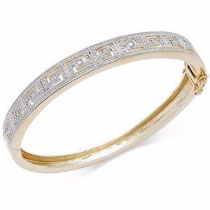 Jewelry - Sterling silver designer Greek key bangle bracelet